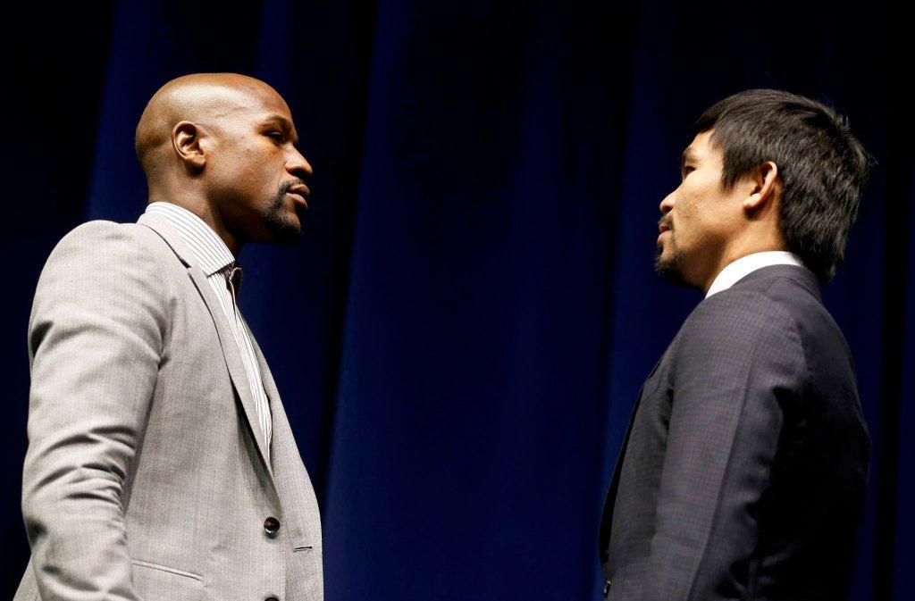 Floyd Mayweather i Manny Pacquiao podczas środowej konferencji prasowej spojrzeli sobie głęboko w oczy. W ringu staną na przeciw siebie 2 maja w walce określanej jako