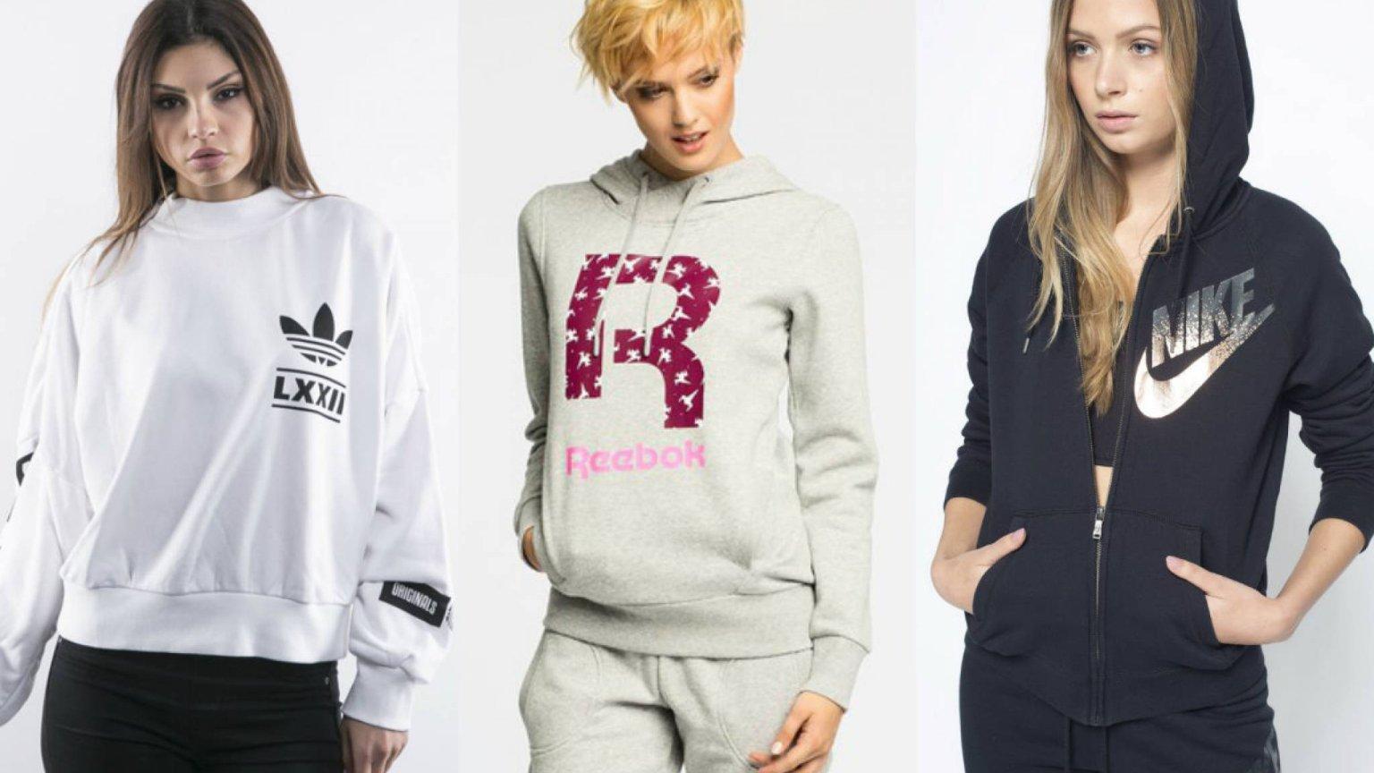 Bluzy dla dziewczynek, sportowe, z kapturem: Nike, Adidas