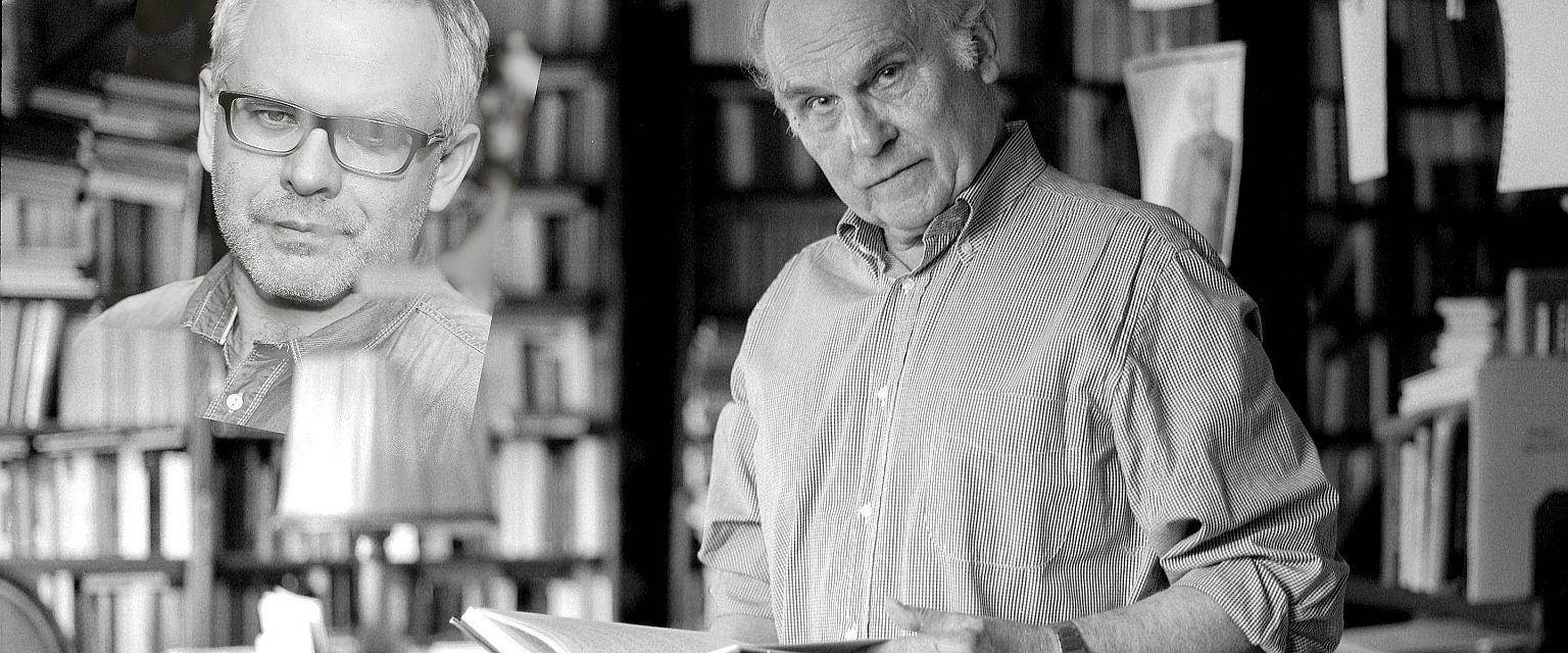 Artur Domosławski i Ryszard Kapuściński (fot. Maciej Zienkiewicz/AG/Andrzej Georgiew)