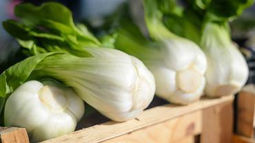 Kapusta pak choi jest niskokaloryczna, a bogata przede wszystkim w witaminę C, kwas foliowy, potas i wapń