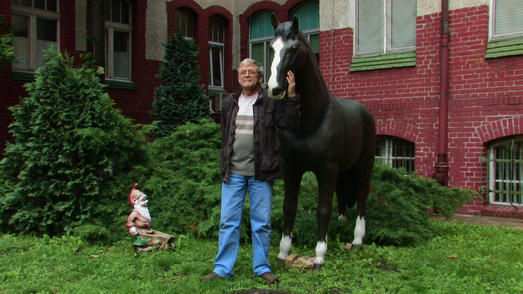 Piotr Banach konia dla szpitala zakupił w ramach podziękowania za uratowanie życia jego córce