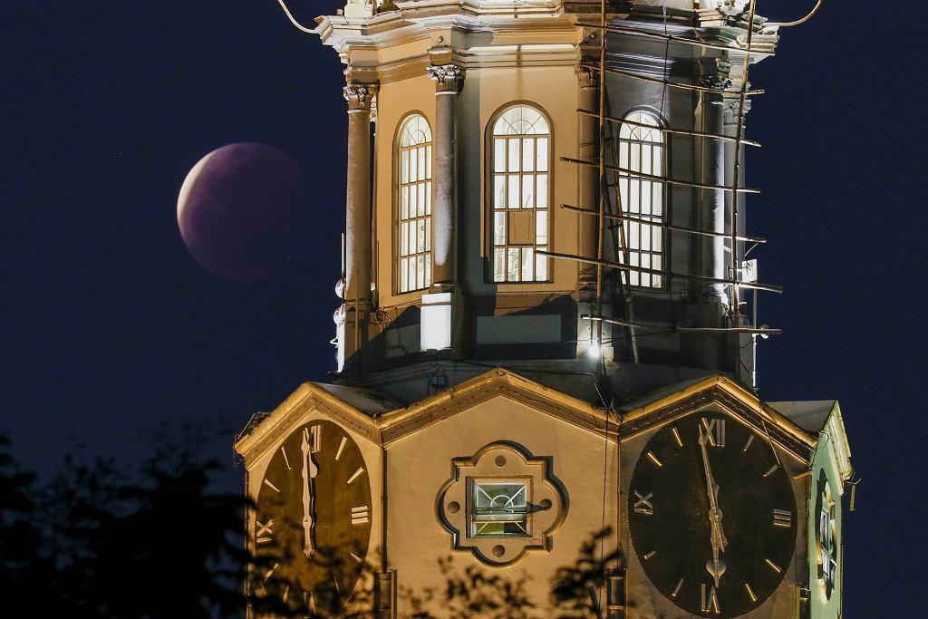 Całkowite zaćmienie Księżyca - Manila (Filipiny)