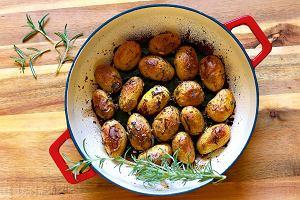 Młode ziemniaki pieczone w occie balsamicznym