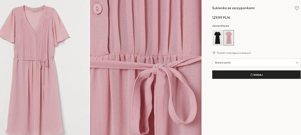 sukienka zpaskiem H&M
