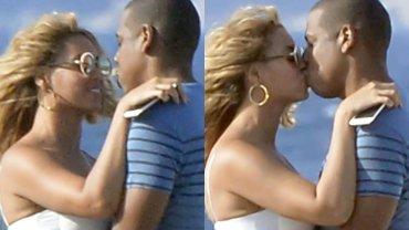 """Beyonce i Jay Z zostali """"przyłapani"""" na czułościach w trakcie swoich wakacji we Włoszech. Paparazzi zrobili im zdjęcia, gdy obdarzyli się pocałunkiem, ale nas zaciekawiło coś innego. Brzuch wokalistki wydawał się podejrzanie duży. Czyżby była w ciąży?"""