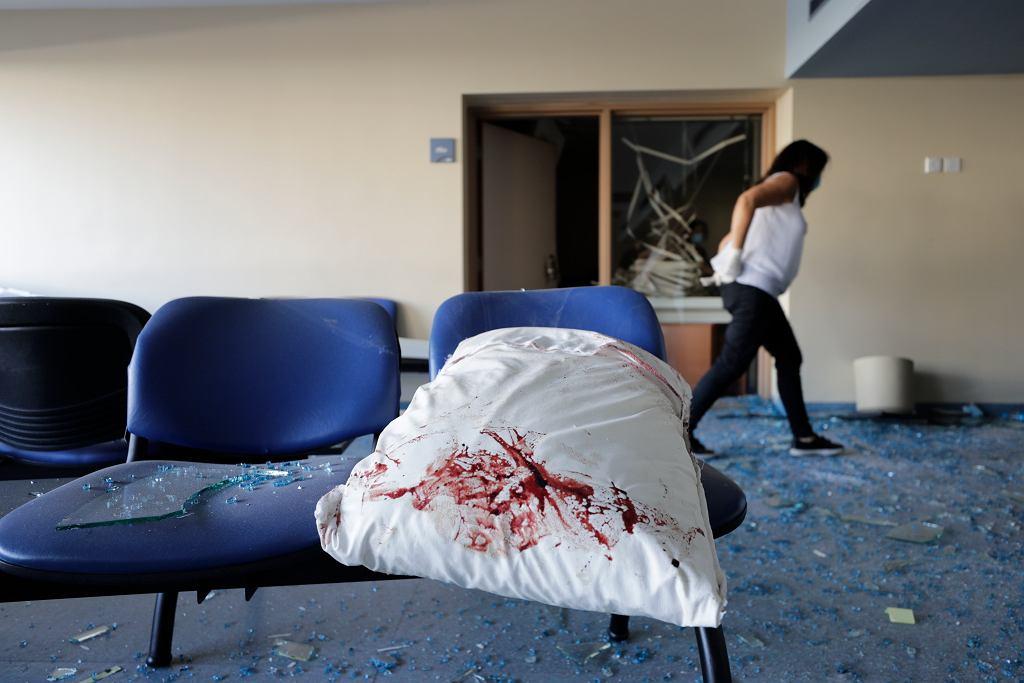 Wybuch w Bejrucie. Eksplozja dokonała zniszczeń w szpitalach w stolicy Libanu