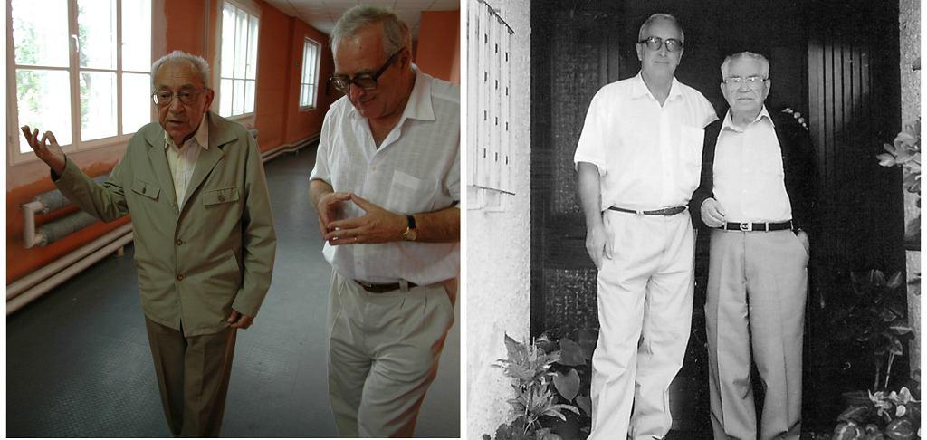 Od lewej: prof. Skotnicki ze Stanisławem Borowskim - byłym pracownikiem Fabryki Schindlera i z Moshe Bejskim - sędzią Sądu Najwyższego Izraela, jednym z ocalonych przez Oskara Schindlera (fot. archiwum prywatne)