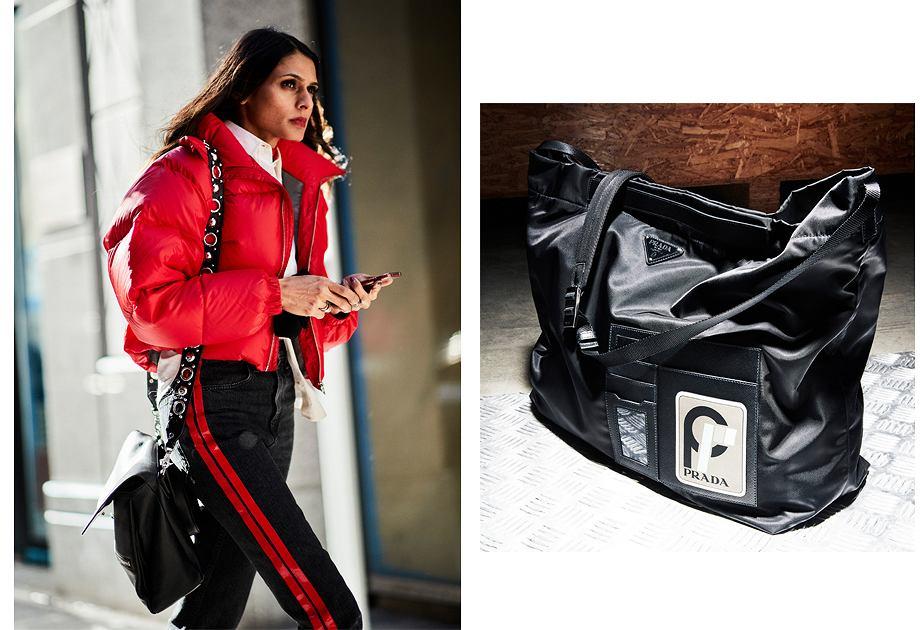 Miuccia Prada wraca do kultowych torebek sprzed lat wykonanych ze sportowego nylonu