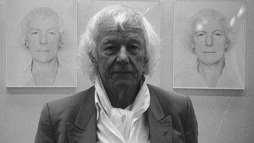 Roman Opałka w Poznaniu, 1996 r.