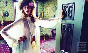 Anja Rubik w Vogue Paris wrzesień 2011