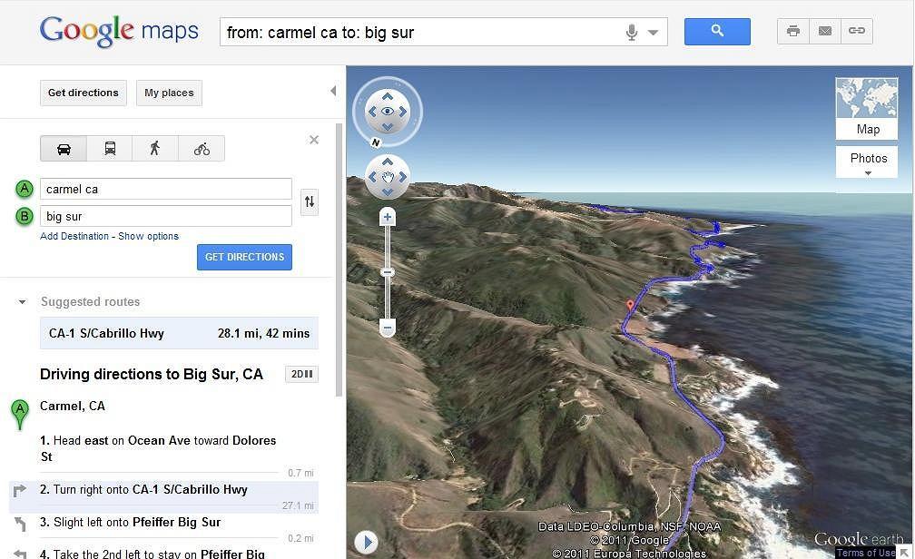 Widok z helikoptera - nowa funkcja w Google Maps