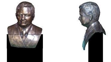 Projekt pomnika Lecha Kaczyńskiego który miał stanąć w Wołominie