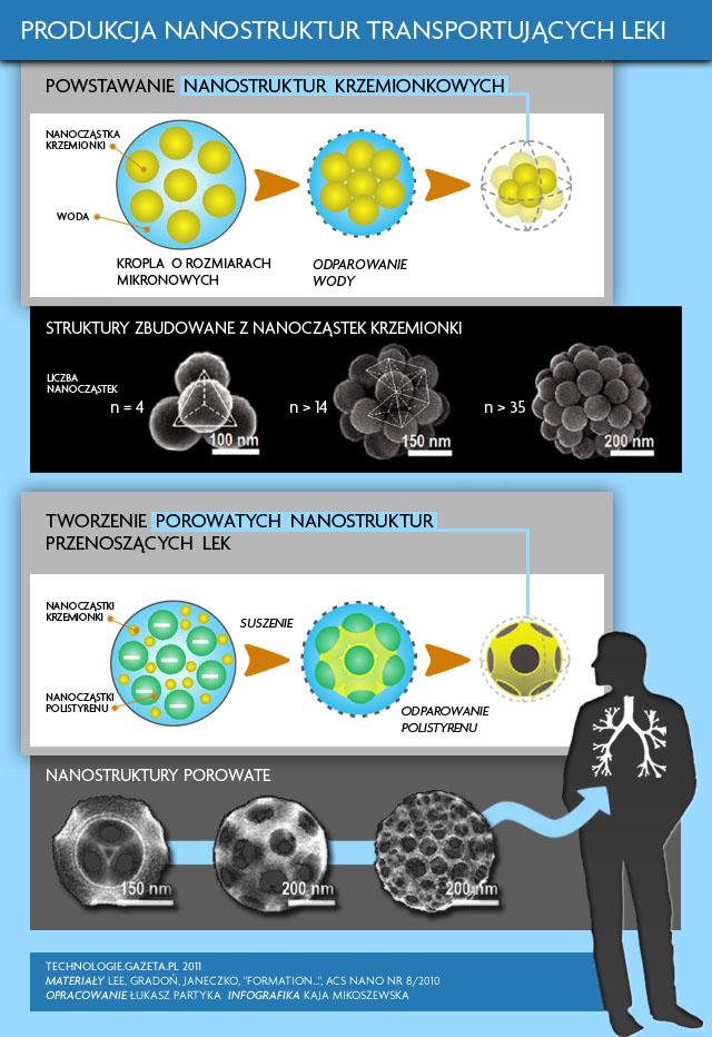 Tworzenie nanostruktur przenoszących lek