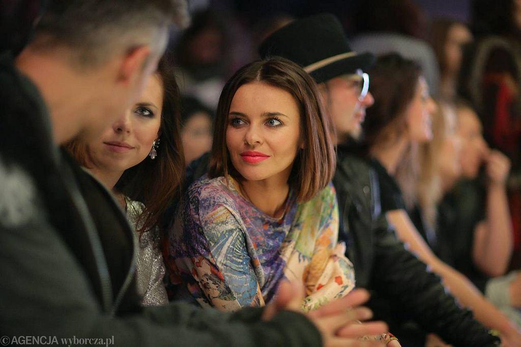 Aleksandra Kwaśniewska i Edyta Herbuś na pokazach Fashion Week w Łodzi