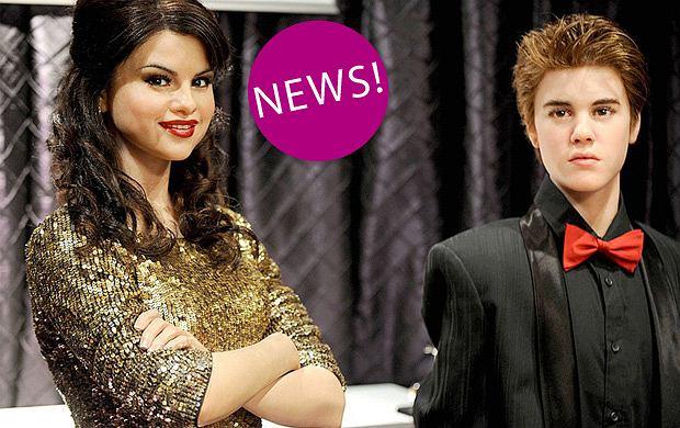 Figury woskowe - Selena Gomez i Justin Bieber