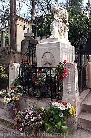 Cmentarz Pere Lachaise, grób Szopena