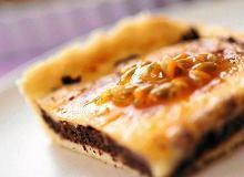 Tarta makowa z kremem cytrynowym i marakują - ugotuj