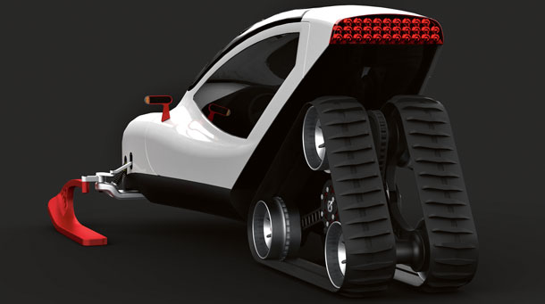 skuter, design, auto