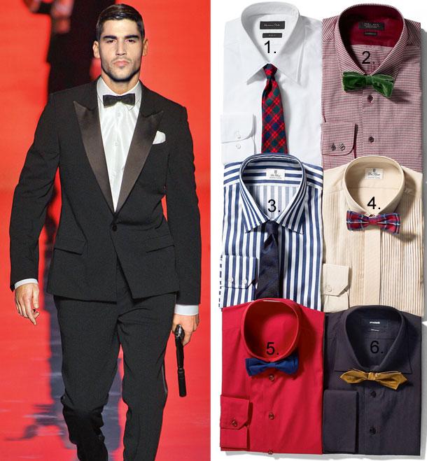mucha, krawat, koszula, Gaultier