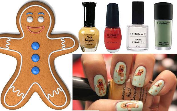 Zabawny, świąteczny manicure
