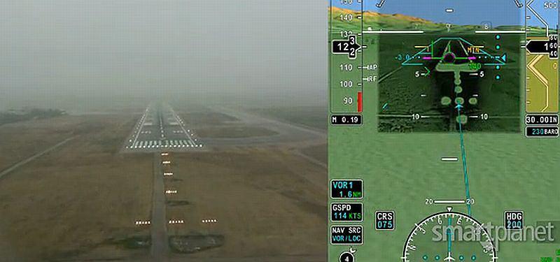 Rzeczywistość rozszerzona pomoże pilotom lądować przy złej pogodzie