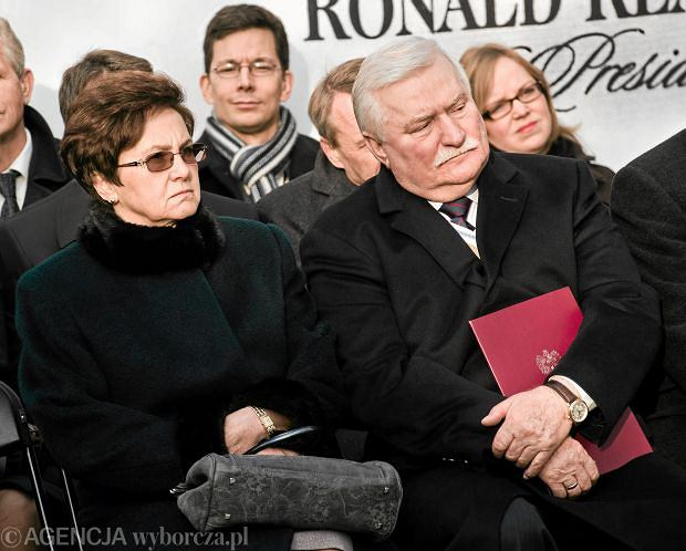Lech Wałęsa i Danuta Wałęsa oraz ich syn Jarosław