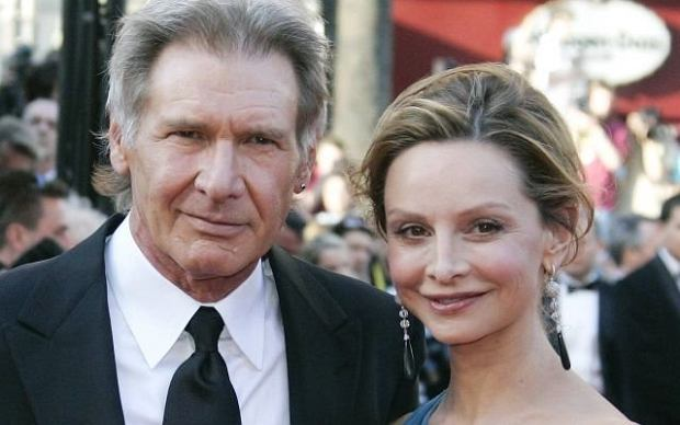 FILE - In this May 18, 2008 file photo, American actor Harrison Ford and his girlfriend Calista Flockhart arrive for the premiere of the film