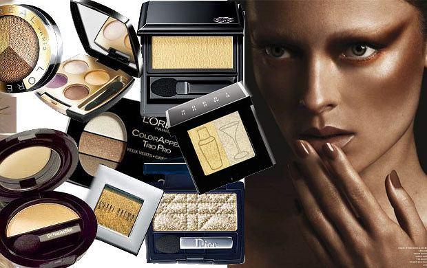 Złoto - 'must have' kobiecego makijażu