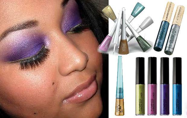 Karnawałowo - kolorowe eyelinery