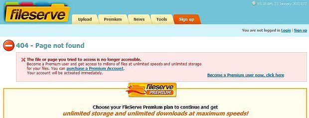 Fileserve.com rezygnuje z możliwości udostępniania plików