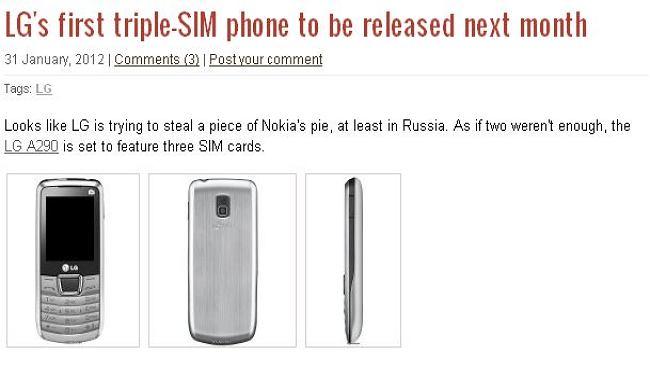 LG chce wprowadzić na rynek telefon z obsługą 3 kart SIM