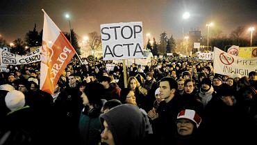 25 stycznia, Wrocław. Protest przeciw ACTA