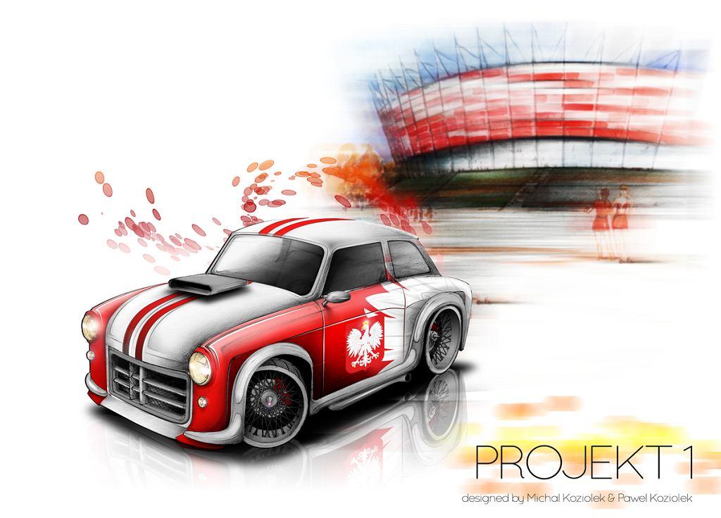 A tak wyglądał projekt syrenki na Euro 2012