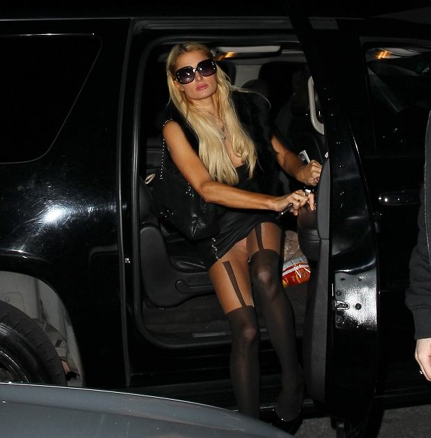 Paris and Nicky Hilton were at Greystone Manor, then headed to an after party in the Hollywood Hills with Brandon Davis. February 2, 2012 X17online.com *** Local Caption ***  Paris Hilton and Nicky Hilton