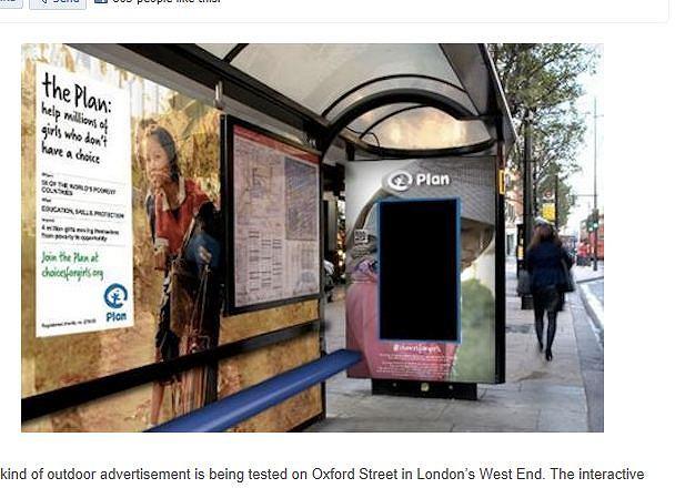 Interaktywny billboard potrafiący rozpoznać płeć