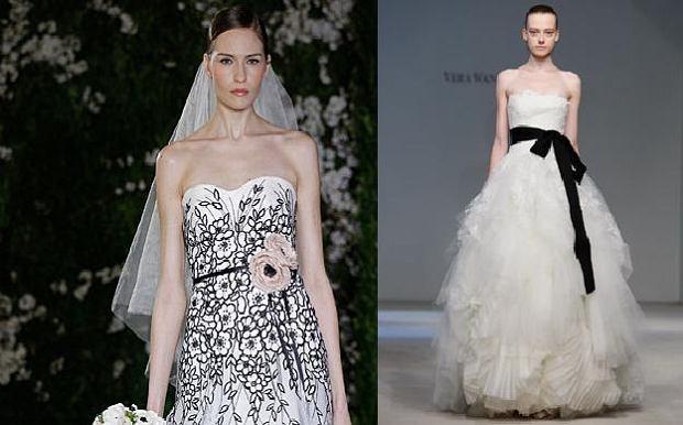 Biało - czarne suknie ślubne z kolekcji wiosna 2012