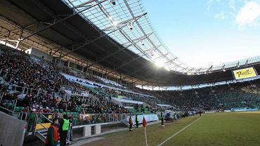 Stadion Miejski podczas meczu Śląsk - Legia