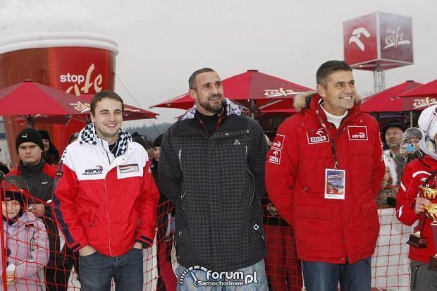 Kuba Giermaziak, Przemysław Saleta, Krzysztof Hołowczyc
