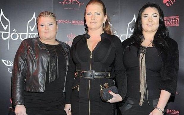 Marta Grycan z córkami.
