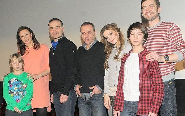 Sonia Bohosiewicz z aktorami serialu