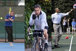 David Cameron, Nicolas Sarkozy, Barack Obama.