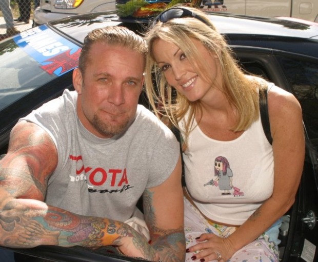 Mar 24, 2010 - Long Beach, CA, USA - File photo JESSE JAMES and porn star Ex-Wife JANINE LINDEMULDER at the 27th Annual Toyota Pro/Celeb Race on April 12, 2003  Mandatory Credit: Photo by Jonathan Alcorn/ZUMA Press.  (?) Copyright 2003 by Jonathan Alcorn  (Credit Image: ? Jonathan Alcorn/ZUMA Press)