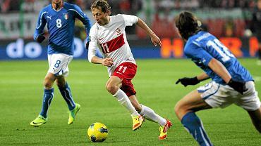 Rafał Murawski w meczu Polska - Włochy, 2011 r.