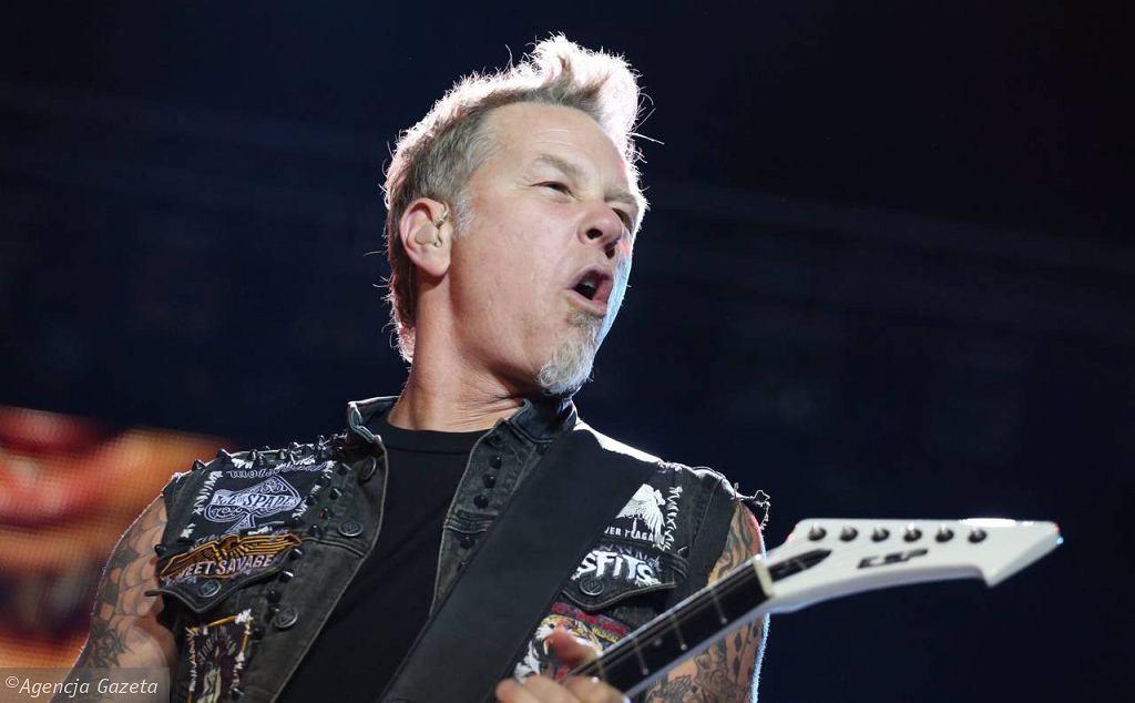 Zespół Metallica na scenie na Bemowie podczas Sonisphere Festival 2012