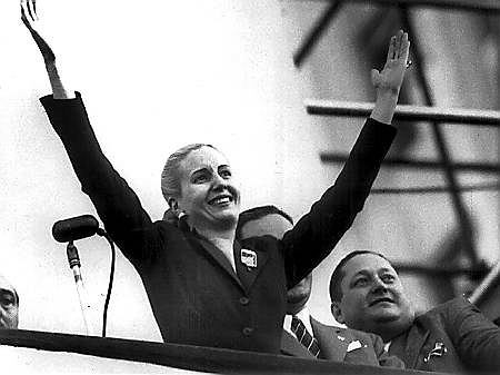 Eva Peron, zwana Evitą, żona prezydenta Argentyny. Działaczka polityczna i społeczna. Uwielbiana przez tłumy