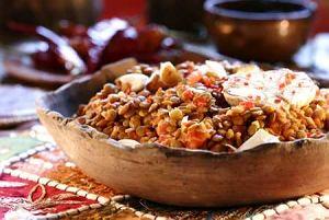 Soczewica w sosie czosnkowym po etiopsku