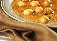 Zupa pomidorowa z groszkiem ptysiowym - ugotuj