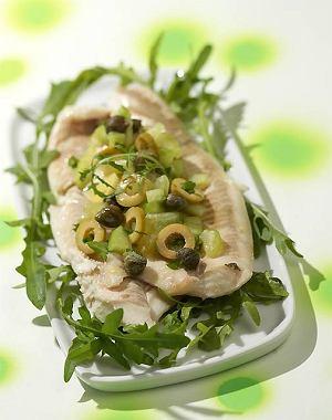 Pieczona ryba na zielono