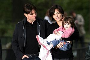 Tom Cruise i Katie Holmes z córką Suri
