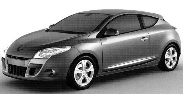 Renault Megane Coupe z gliny